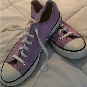 Converse lilac sneakers